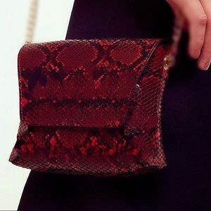 Genuine Snakeskin Handcrafted Crossbody/Clutch